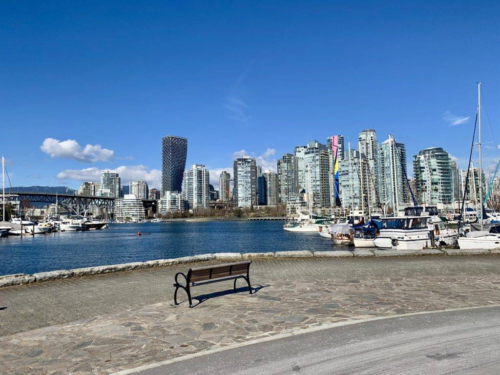 Waterfront views near Olympic Village Vancouver Canada